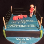 boxing cake for Thomas