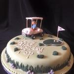 golf fan cake