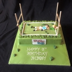 rugby cake for Bobby