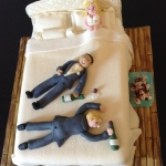 wedding bed cake