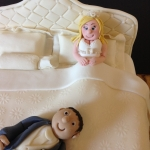 wedding bed cake detail