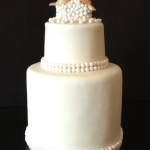 love birds pearl cake