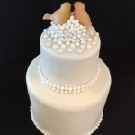 love birds pearl cake detail