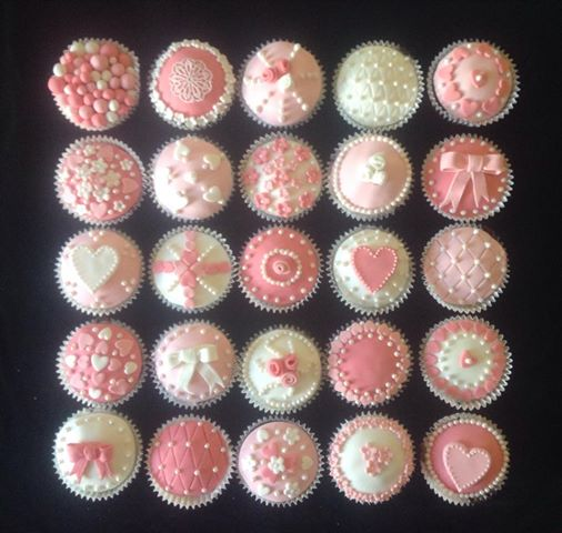pink icing cupcakes